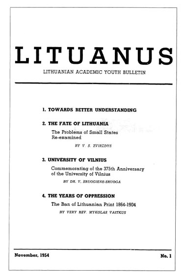 LITUANUS First Issue cover